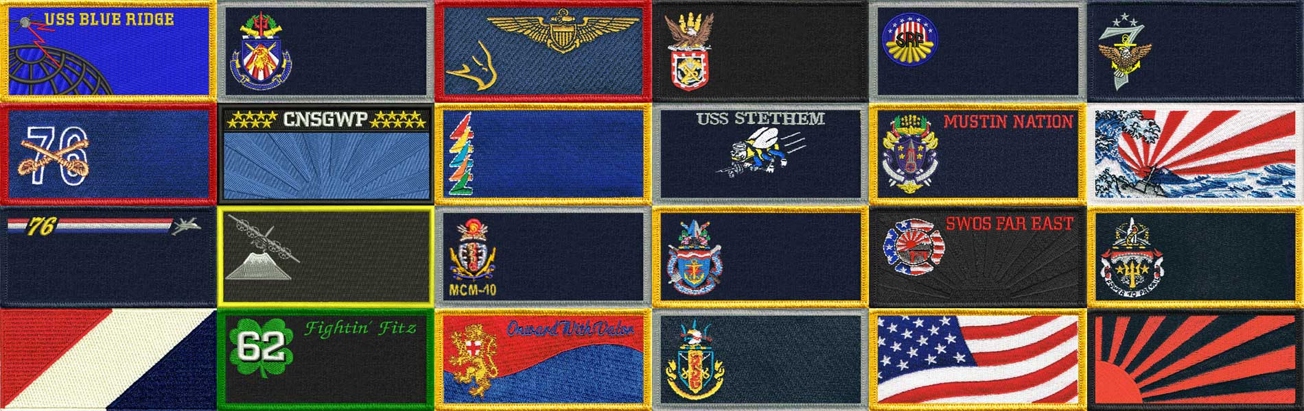 Military Uniform Name Patch